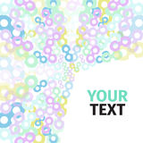 Abstract background with colored circles and Royalty Free Stock Image