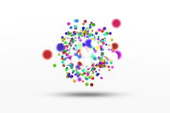 Abstract background. Abstract colored circles background and some bokehs Royalty Free Stock Photography