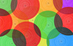 Abstract background of colored circles. Surface texture Royalty Free Stock Photography