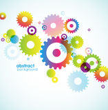 Abstract background with colored circles. Vector art Royalty Free Stock Image