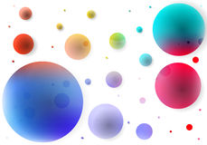 Abstract background of colored circles. Vector art illustration vector illustration