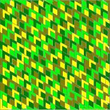 Abstract background of colored corners and rhombuses inside. Abstract background of large colored green light and dark, yellow and olive corners and rhombuses Stock Photos