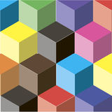 Abstract background of colored cubes. Abstraction vector illustration
