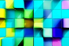 Abstract background of colored cubes. Royalty Free Stock Photo