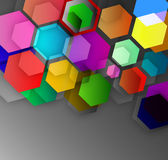 Abstract background of colored cubic hexagons. Abstract background of volumetric hexagons, vector art illustration vector illustration
