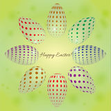 Abstract background with colored eggs for Easter. Abstract vector background with colored eggs for Easter Royalty Free Stock Images