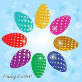 Abstract background with colored eggs for Easter Stock Image