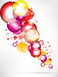 Abstract background with colored elements Stock Photo