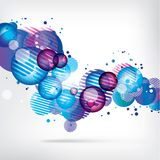 Abstract background with colored elements Royalty Free Stock Images