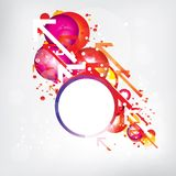 Abstract background with colored elements Royalty Free Stock Photography