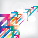 Abstract background with colored elements Stock Photography