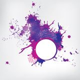 Abstract background with colored elements Stock Image