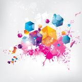 Abstract background with colored elements. This is file of EPS10 format Stock Images