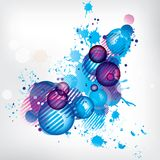 Abstract background with colored elements Royalty Free Stock Photo