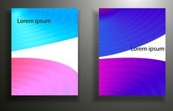 Abstract background with colored elements, layering 3d. set. Eps10 royalty free illustration