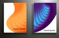 Abstract background with colored elements, layering 3d. set. Eps10 stock illustration