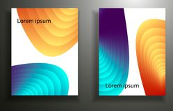 Abstract background with colored elements, layering 3d. set. Eps10 vector illustration