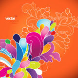 Abstract background with colored flowers. Vector art vector illustration
