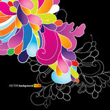 Abstract background with colored flowers. Vector art royalty free illustration