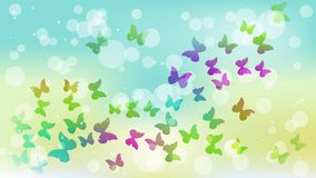 Abstract background with colored flying butterflies. Vector illustration stock illustration