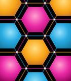 Abstract background with colored hexagons Stock Photography