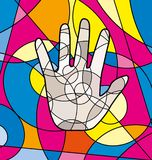 Abstract colored image of hand Royalty Free Stock Image