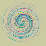 Abstract background with colored lines that form a circle vector illustration
