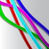 Abstract background with colored lines. VEctor. EPS10 royalty free illustration