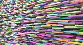 Abstract background of colored many cubes.  Stock Photo