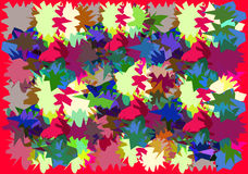 Abstract background of colored polygons. An abstract background of colored polygons vector illustration