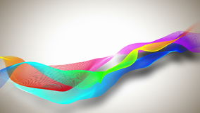 Abstract background with colored ribbons