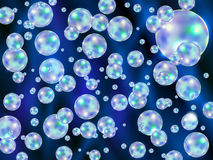 Abstract background with colored scattered bubbles. Vector illustration vector illustration