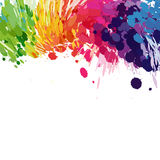 Abstract background of colored splashes Royalty Free Stock Photos