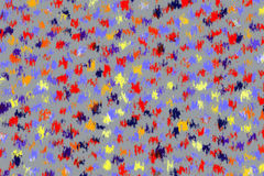 Abstract Background of Colored Spots. Abstract brushes, splatters, splashing or colored spots, with diffuse and irregular edges and uniform background vector illustration