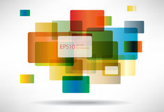 Abstract background of colored squares.  Stock Illustration