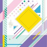 Abstract background of colored squares. Color illustration Royalty Free Illustration