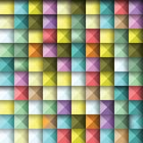 Abstract background of colored squares. Color illustration Stock Illustration