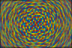 Abstract background of colored squares. Arranged in a matrix with distortion Royalty Free Illustration