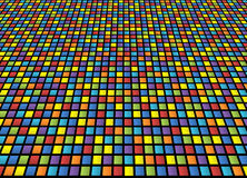 Abstract background of colored squares. Arranged in a matrix with distortion Vector Illustration