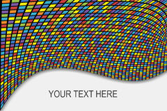 Abstract background with colored squares. With distortion and space for text vector illustration
