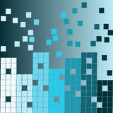Abstract background. Colored squares in the form of buildings , city Royalty Free Illustration