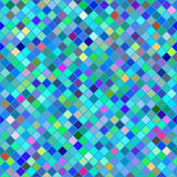 Abstract background of colored squares. Vector seamless pattern. Stained glass texture. Abstract background of colored squares in shades of blue Vector Illustration