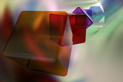 Abstract background. With colored transparent cubes Royalty Free Stock Image