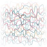 Abstract background from colored waves lines. Human circulatory. System concept royalty free illustration