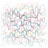 Abstract background from colored waves lines. Human circulatory system concept royalty free illustration