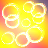Abstract background. Colored background with white circles. Bokeh theme Royalty Free Stock Image