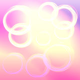 Abstract background. Colored background with white circles. Bokeh theme Stock Photos