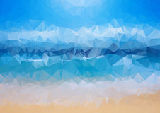 Abstract background. Colorful abstract background. For design. Vector template pattern. Geometric triangular mosaic colors of the sea and sand sky. vector Stock Photography