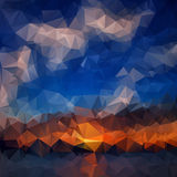 Abstract background. Colorful abstract background. For design. Vector template pattern. Geometric triangular mosaic colors of the sea and sand sky. vector Royalty Free Stock Image