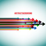 Abstract background with colorful arrows Royalty Free Stock Photography